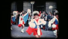 Stock Video Footage of Vintage 8mm. Festive parade
