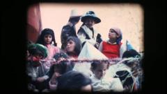 Vintage 8mm. Children in costume riding a float - stock footage