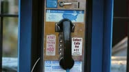 Stock Video Footage of pay phone