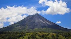 arenal volcano panorama - stock photo