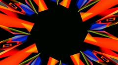 Abstract hole starlish Stock Footage