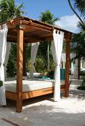 Sun Shelter Resort Bed - stock photo