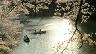 Stock Video Footage of People celebrating the cherry blossom at Kudanishita in Tokyo.