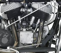 motor of a motorbike - stock photo