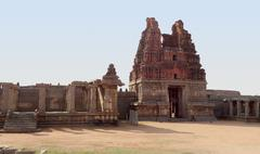 Vittala temple at vijayanagara Stock Photos