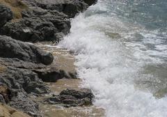 coastal surf scenery - stock photo
