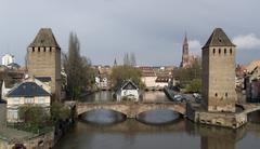 strasbourg scenery in cloudy ambiance - stock photo