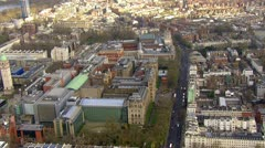 Aerial view flying over the city of London Stock Footage