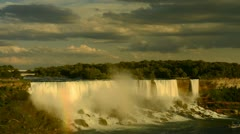 Time Lapse of American falls of Niagara falls evening sunset timelapse Stock Footage