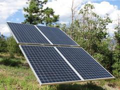 Solar panel collector Stock Photos