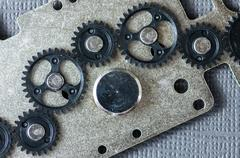 Plastic gear train assembly Stock Photos