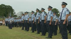 Queensland Police Graduation Ceromony (27) Stock Footage