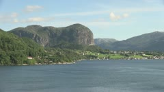 Norway Hagsfjordens view s Stock Footage
