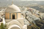 Stock Photo of santorini cupola