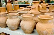Greece ceramic pots Stock Photos