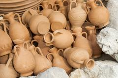 greece ceramic pots - stock photo
