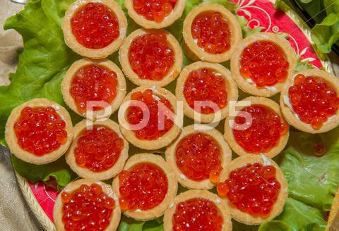 Stock photo of salmov red caviar