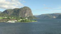 Hagsfjordens rock & village s Stock Footage