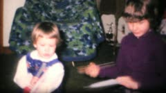 Girl Gets New Dress For Christmas-1968 Vintage 8mm film Stock Footage
