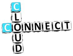 3d cloud connect crossword Stock Illustration