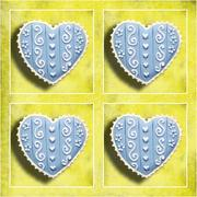 four blue hearts - stock photo