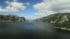 Norway Lysefjord view timelapse c Stock Footage
