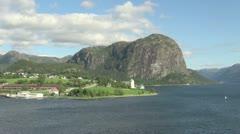 Norway Hagsfjordens monolith s Stock Footage