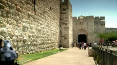 Jaffa Gate of Old Jerusalem Stock Footage