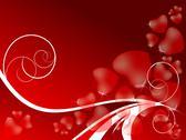 Red valentine's day backdrop Stock Illustration