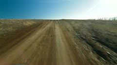 Driving Through Mountain Plateau - stock footage