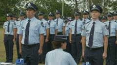 Queensland Police Graduation Ceromony (25) Stock Footage