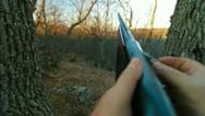 Hunter Loading Shotgun Stock Footage