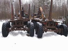 Timber trucks Stock Photos