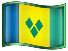 Saint vincent and the grenadines flag icon. Stock Illustration