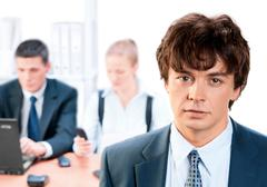 Stock Photo of business team and a leader