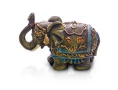 Elephant, isolated on white background Stock Photos