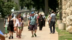 Tourists in the Old City of Jerusalem 1 Stock Footage