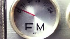 retro radio FM AM 4k - stock footage