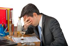 Business drug abuse - stock photo