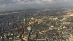 Panoramic  aerial view over the city of London - stock footage
