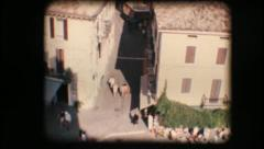 Vintage 8mm. Town of Sirmione and Lake Garda Stock Footage