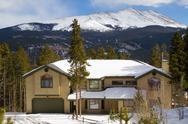 Modern Mountain Home Stock Photos