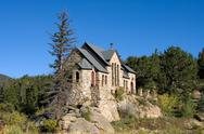 Scenic Chapel in the Rocky Mountains Stock Photos
