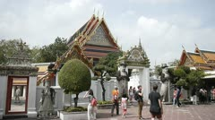 Bangkok Grand Palace tourist attraction Stock Footage