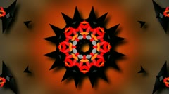 Kaleidoscope tribal flower Stock Footage