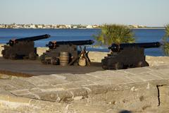 Stock Photo of Cannons Castillo de San Marcos National Monument