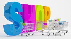 Preparation for shopping Stock Illustration