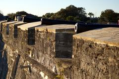 Cannons at Castillo de San Marcos National Monument - stock photo