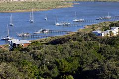 Saint Augustine Bay aerial view - stock photo