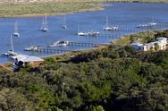 Saint Augustine Bay aerial view Stock Photos